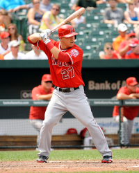 Mike Trout Batting 2014 September 18  2014