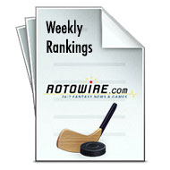 Fantasy Hockey Weekly Rankings 2012